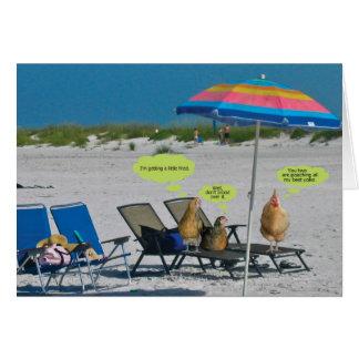 Carte À la plage