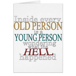 Carte À l'intérieur de chaque personne âgée
