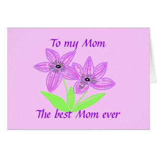 Carte À ma maman, la meilleure maman jamais