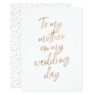 Carte À ma mère mon jour du mariage