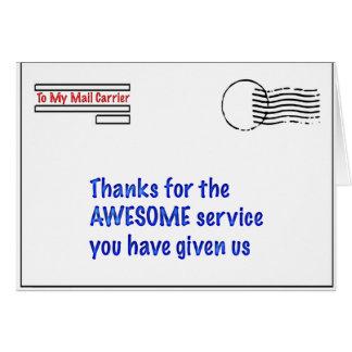 Carte à mon transporteur de courrier