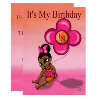"""Carte """"Ă?re invitation"""" 5' de l'anniversaire du bébé x"""