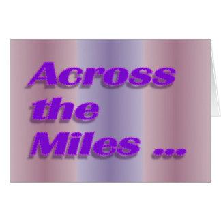 Carte à travers les milles