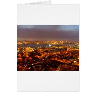 Carte À travers Liverpool vers la rivière le Mersey et