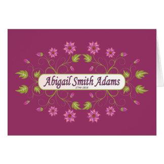 Carte ~ Abigaïl Smith d'Adams