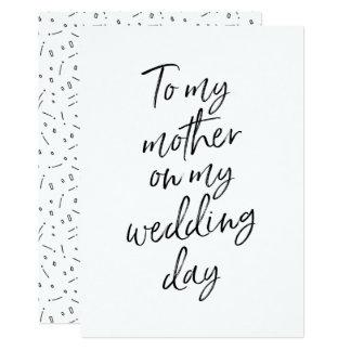 Carte Abordable à ma mère mon jour du mariage