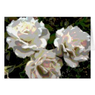Carte Abrégé sur rose blanc