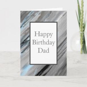 Carte Abstrait gris bleu