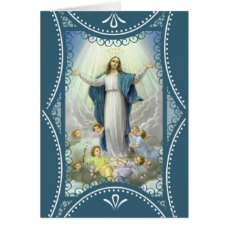 Carte Acceptation des anges bénis de Vierge Marie