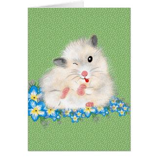 Carte Accessoires syriens blancs mignons de hamster,