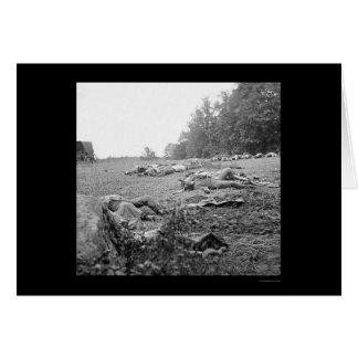 Carte Accidents pendant la bataille de Gettysburg 1863