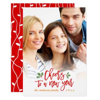 Carte Acclamations à une photo de famille de bénédiction