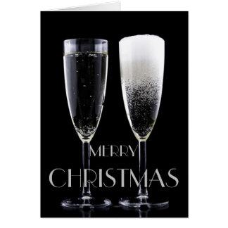 Carte Acclamations en verre de cannelure de Champagne de