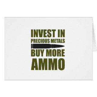 Carte Achetez plus de munitions, les investissez en