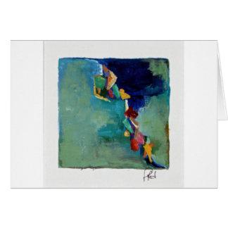 Carte Acrylique abstrait de no. 76 de l'eau