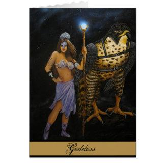 Carte acrylique de peinture de déesse