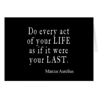 Carte Acte vintage de bout de Marcus Aurelius de