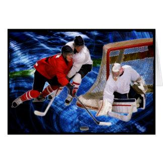 Carte Action au filet d'hockey