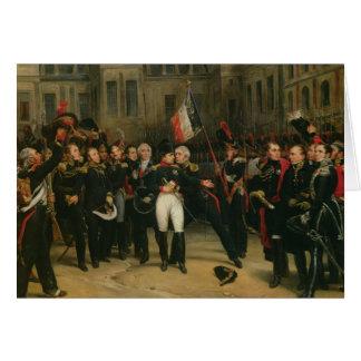 Carte Adieu de offre du napoléon I à l'impérial
