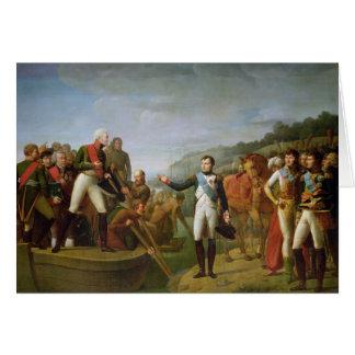 Carte Adieu du napoléon I et de l'Alexandre I