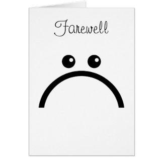 Carte Adieu triste de visage