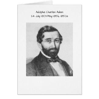 Carte Adolphe Charles Adam, 1850a