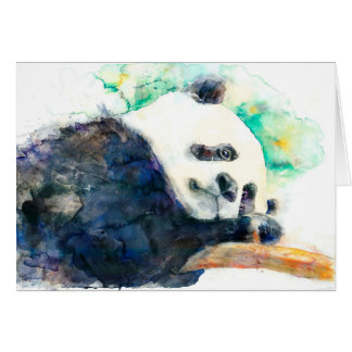 Carte adorable de panda d'aquarelle