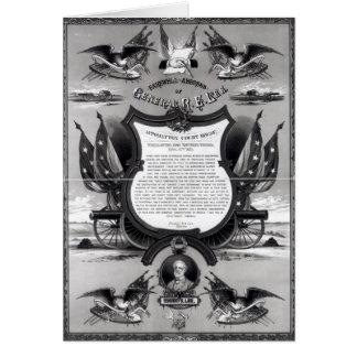 Carte Adresse d'adieu du Général Robert E. Lee