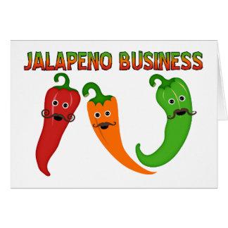 Carte Affaires de Jalapeno