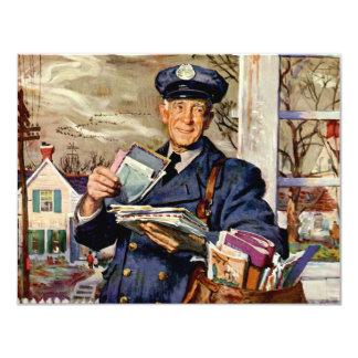 Carte Affaires vintages, facteur fournissant des lettres