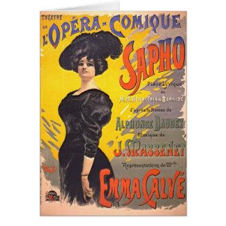 Carte Affiche 1897 d'opéra comique