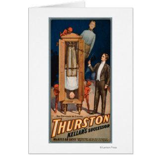 Carte Affiche de magie de successeur de Thurston Kellar
