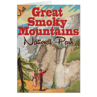 Carte Affiche de voyage de Great Smoky Mountains
