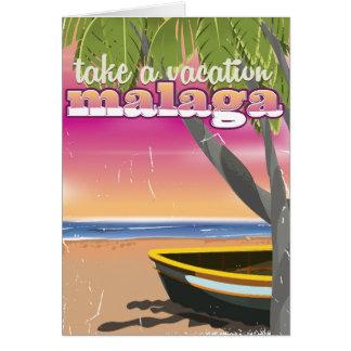 Carte Affiche de voyage de Malaga Espagne