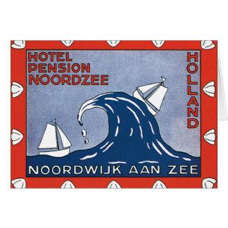 Carte Affiche de voyage de Nordzee_Vintage de pension