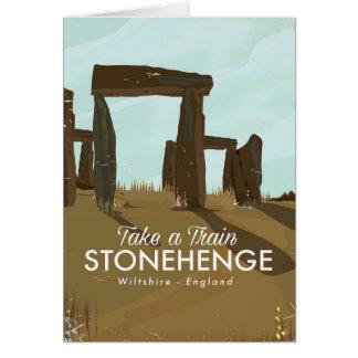 Carte Affiche de voyage de train de Stonehenge WILTSHIRE