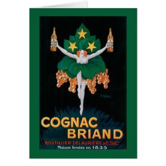 Carte Affiche promotionnelle de Briand de cognac