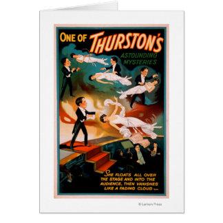 Carte Affiche stupéfiante de magie des mystères de