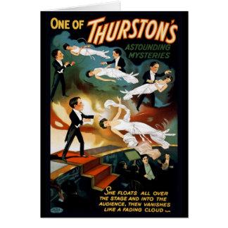 Carte Affiche vintage de théâtre de magicien de Thurston
