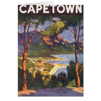 Carte Affiche vintage de voyage, Cape Town, Afrique du
