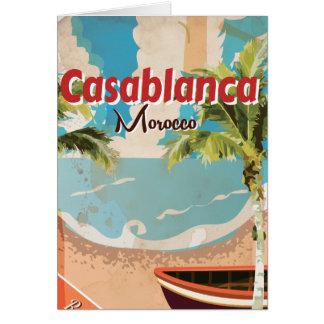 Carte Affiche vintage de voyage de Casablanca