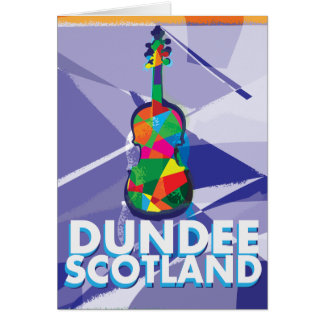 Carte Affiche vintage de voyage de Dundee