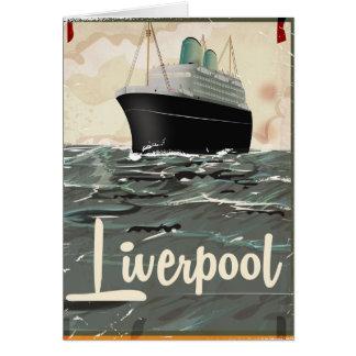 Carte Affiche vintage de voyage de Liverpool