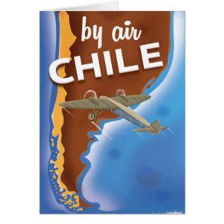 Carte Affiche vintage de voyage du Chili