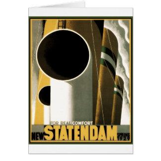 Carte Affiche vintage de voyage : La Hollande Amérique