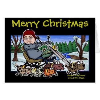 Carte Aide Bubba Claus du cycliste de Père Noël