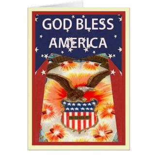 Carte Aigle chauve et insigne des Etats-Unis