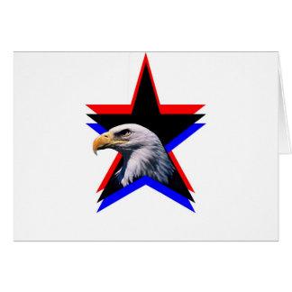 Carte Aigle chauve et l'étoile trois