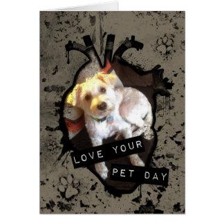 Carte aimez votre jour d'animal familier