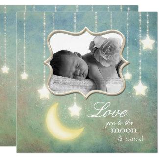 Carte Aimez-vous au bébé d'étoiles de scintillement de